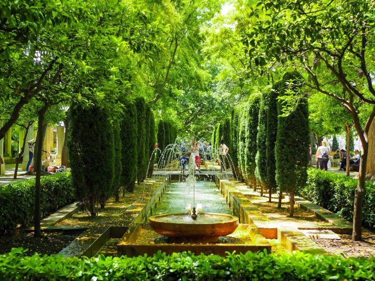 Mallorca-Palma-Jardines-de-SHort-del-Rei-Gaerten-Springbrunnen