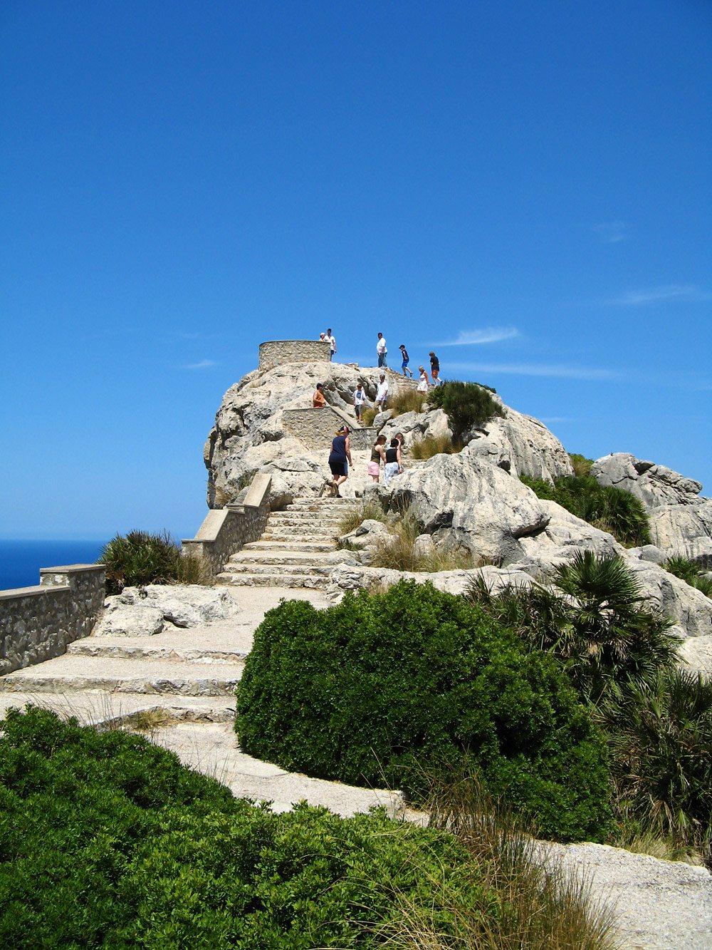 Cap-Formentor-Stufen-Touristen