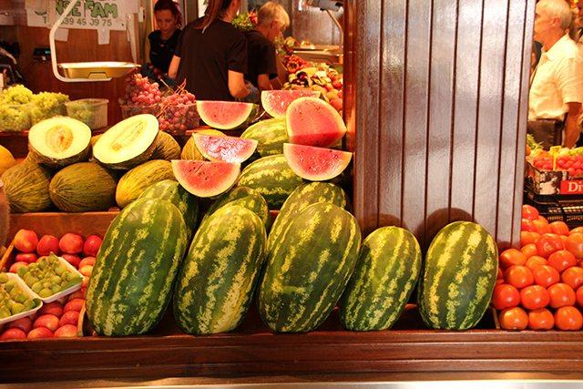 Markthalle-Palma-Wassermelonen