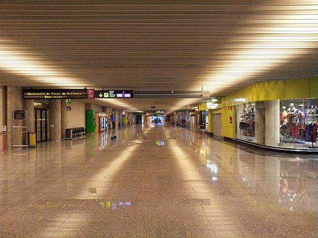 Flughafen-Palma-leer-Winter