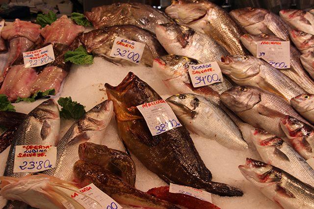 Palma-Markthalle-Fische