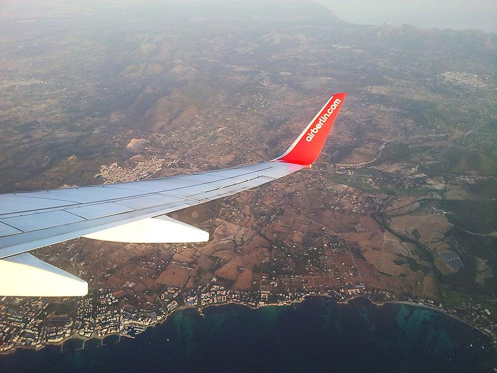 Cala-Bona-Flugzeug-Mallorca
