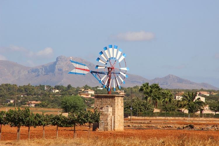 Mallorca-Windrad-Natur-Berge