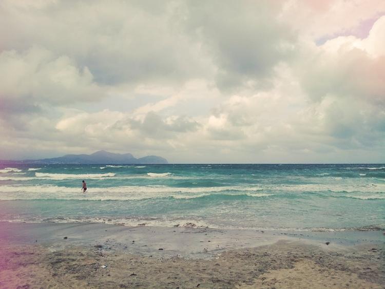Mallorca-Can-Picafort-Sturm-Meer-Strand