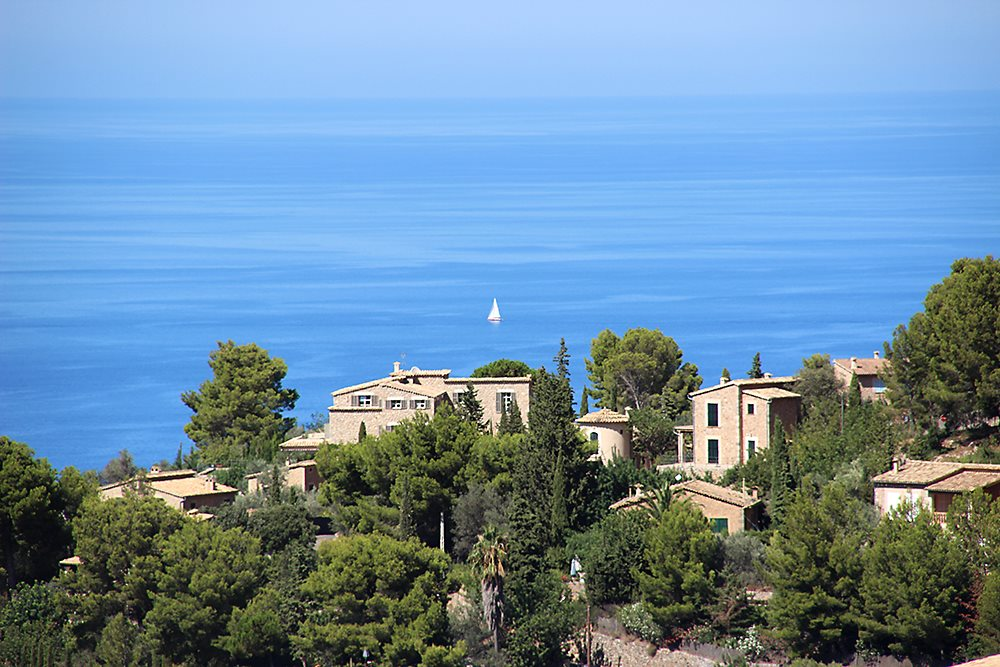 Mallorca-Deia-Meer-Segelboot