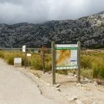 Mallorca-Cuber-Weg-Eingang-Schild-See