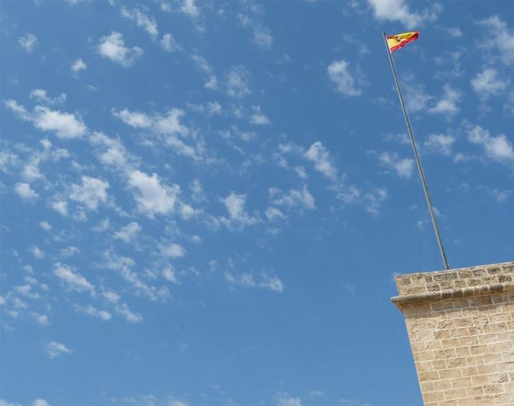 Mallorca-Palma-Museum-Mauer-Fahne-Spanien
