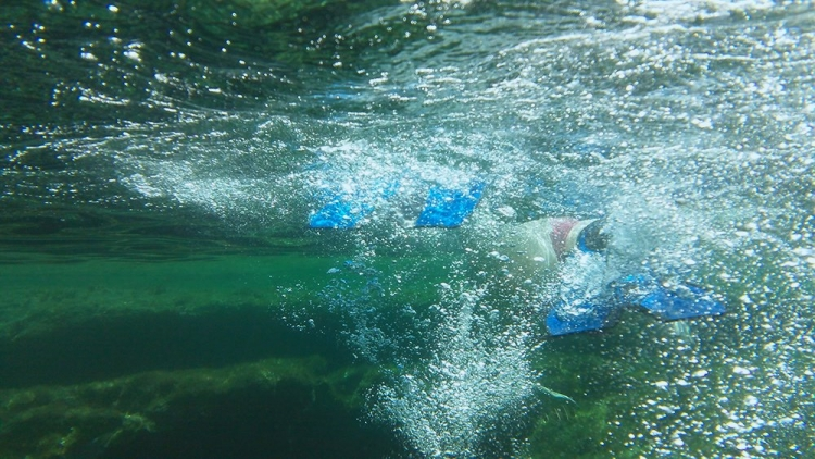 Mallorca-Meer-Tauchen-Flossen