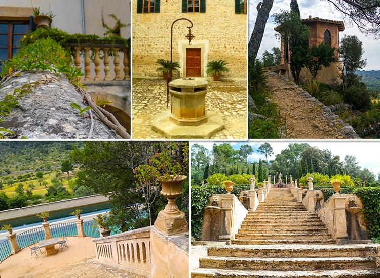 Mallorca-Landgut-Raixa-Treppe-Brunnen