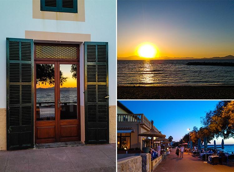 Mallorca-Colonia-de-Sant-Pere-Strand-Promenade-Sonnenuntergang-Meer-Spiegelung