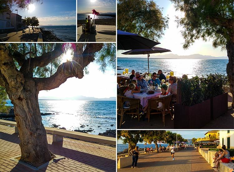 Mallorca-Colonia-de-Sant-Pere-Strand-Promenade-Sonnenuntergang