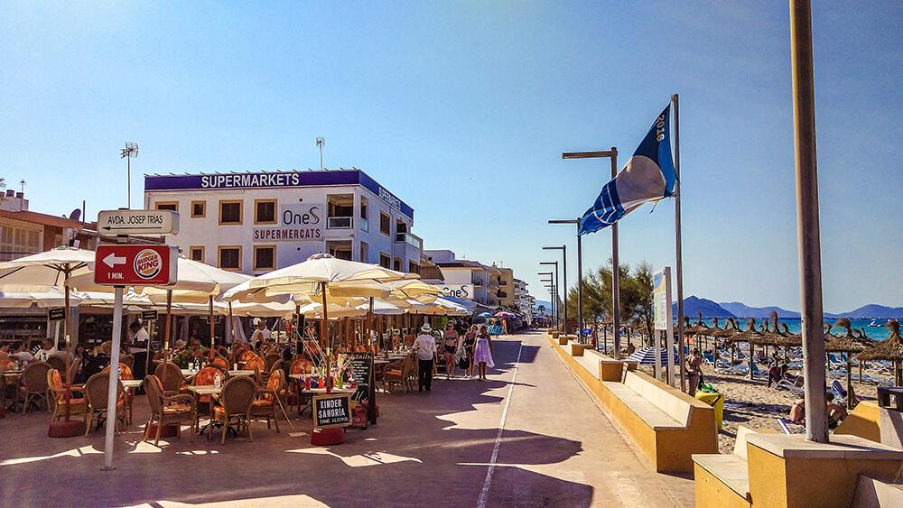Mallorca-Can-Picafort-Strand-Meer-Promenade-2