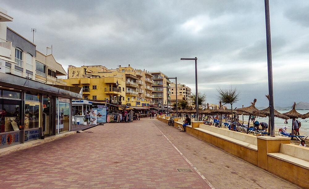 Mallorca-Can-Picafort-Strand-Meer-Promenade-4