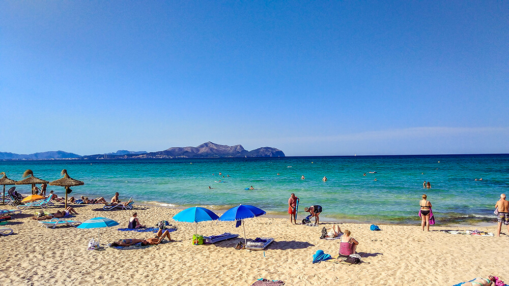 Mallorca-Can-Picafort-Strand-Meer