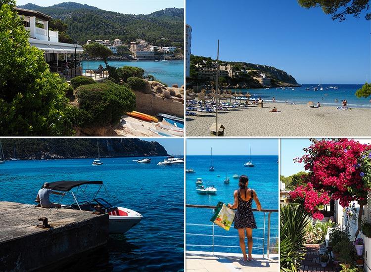 Mallorca-Sant-Elm-Aussicht-Boote-Meer-Strand