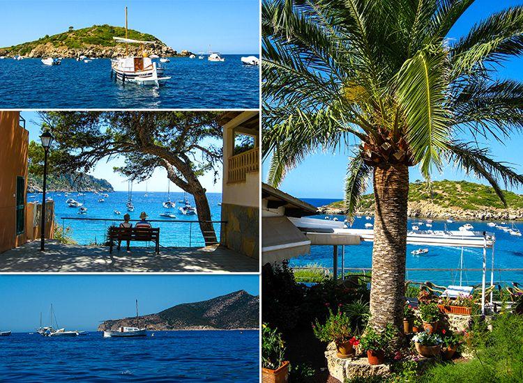 Mallorca-Sant-Elm-Aussicht-Boote-Meer