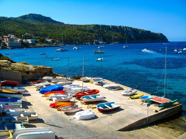 Mallorca-Sant-Elm-Boote-Meer