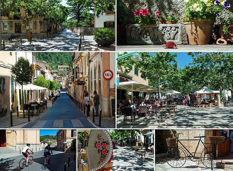 Mallorca-Esporles-Markt-Radfahrer