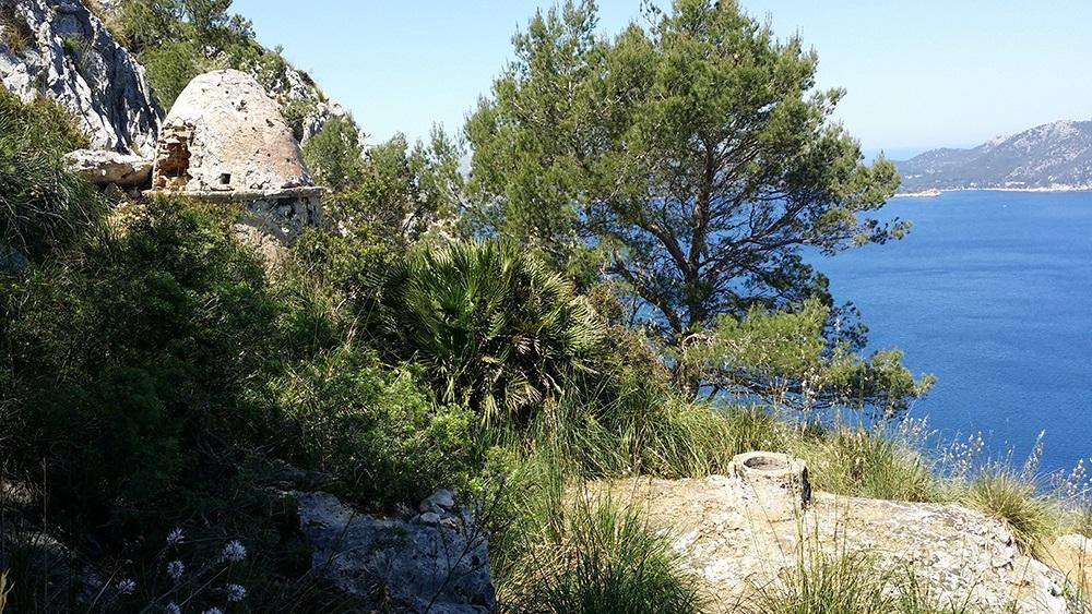 Mallorca-La-Victoria-Wandern-Geocachen-Meer-Aussicht-Ruinen