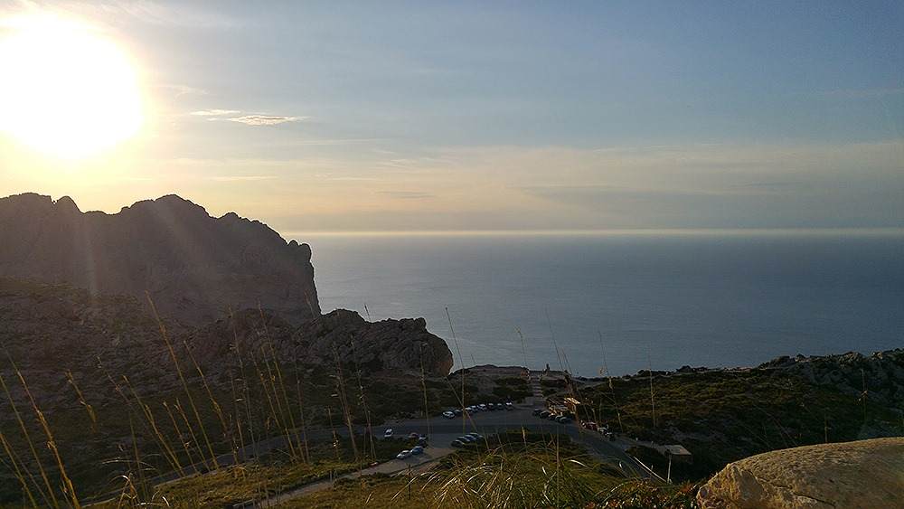 Mallorca-Cap-Formentor-Sonnenuntergang-Parkplatz-Mirador-Colomer