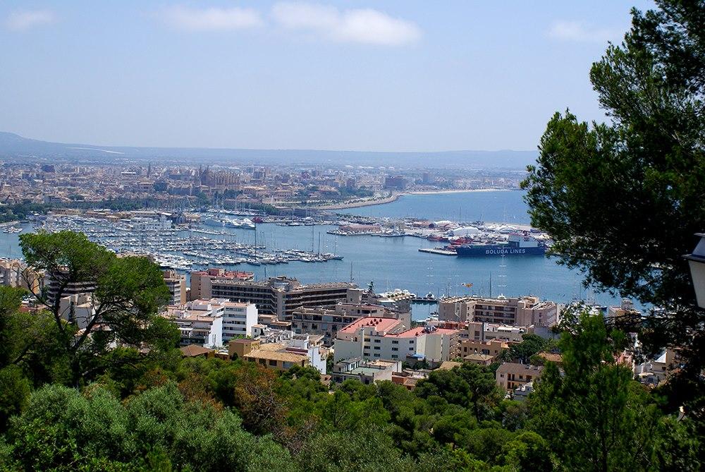 Mallorca-Castell-de-Bellver-Palma-Ausblick