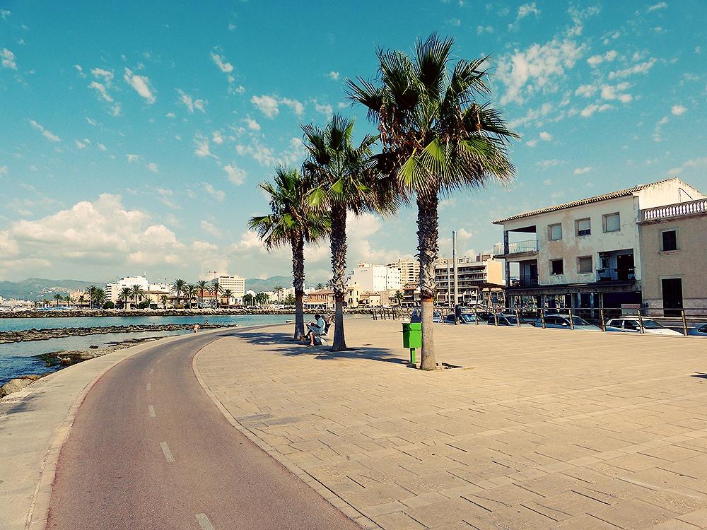 Mallorca-Palma-Portixol-Meer-Promenade-Radweg