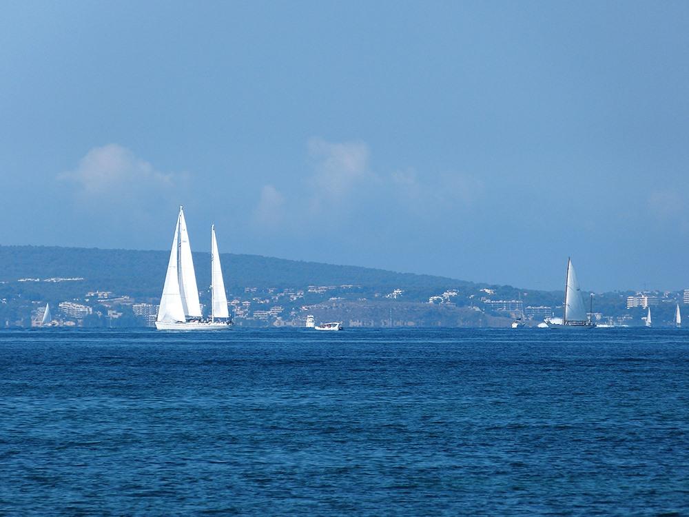 Mallorca-Palma-Portixol-Meer-Segelboot