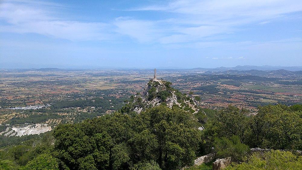 Mallorca-Santuari-de-Sant-Salvador-Ausblick