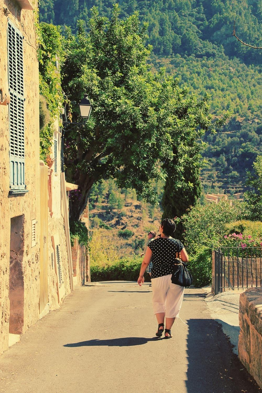 Mallorca-Deia-Frau-Spaziergang