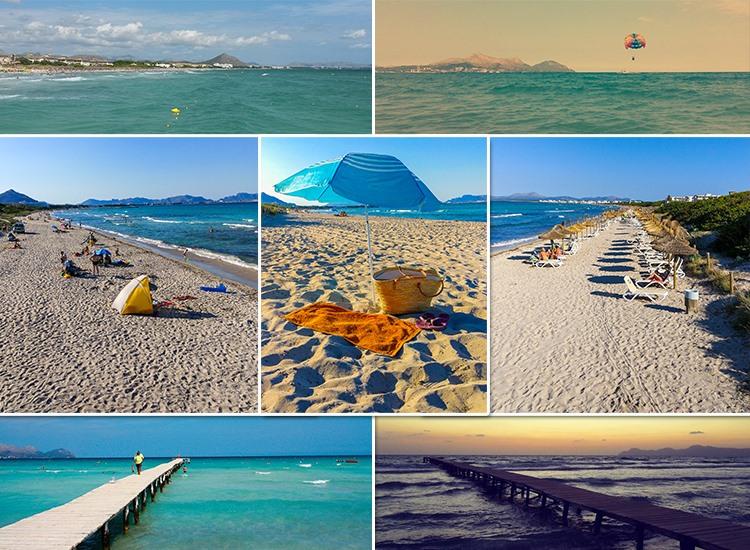 Mallorca-Playa-de-Muro-Steg-Meer-Urlauber-Baden-Strand-1