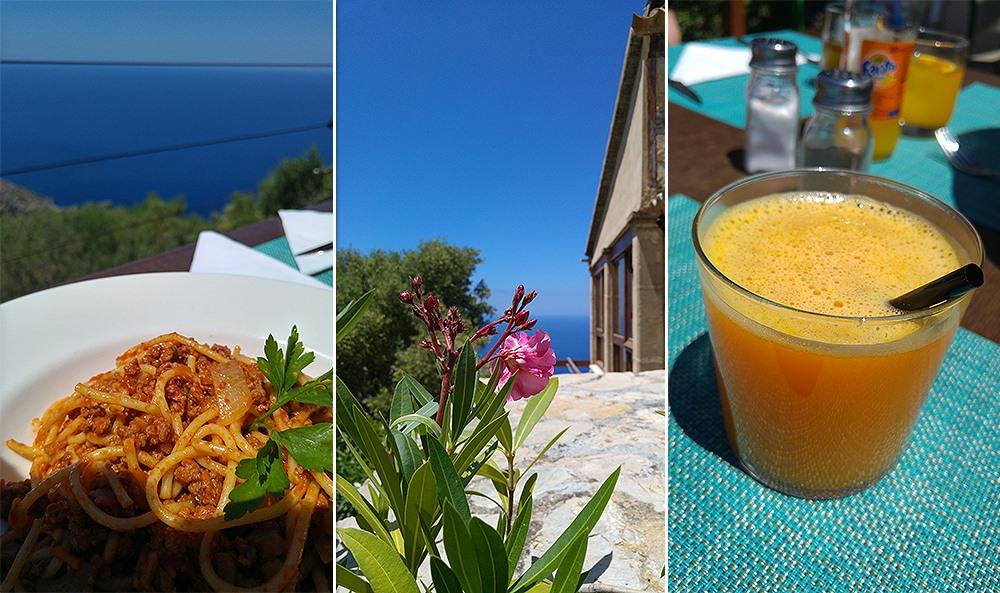 Mallorca-Restaurante-Mirador-Na-Foradada-Essen-Orangensaft