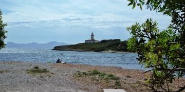 Mallorca-Alcanada-Strand-Leuchtturm