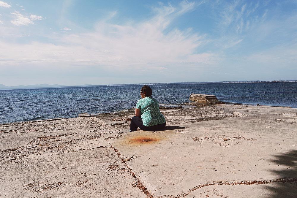 Mallorca-Alcanada-Strand-Leuchtturm-Entspannen