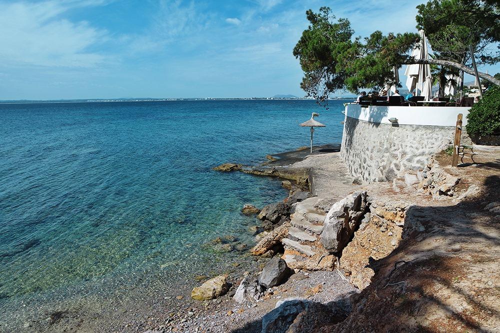 Mallorca-Alcanada-Strand-Strand-Treppe