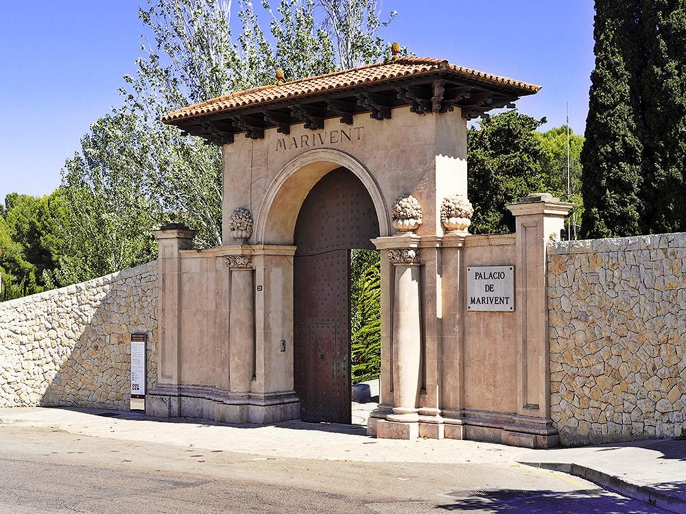 Mallorca-Palma-Marivent-Gaerten-Eingang