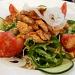 Mallorca-Restaurant-Cala-Ratjada-Marea-Tropical-Salat-Haehnchen
