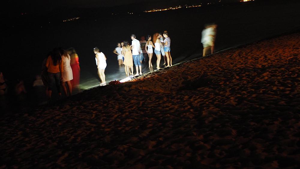 Mallorca-Johannisnacht-Sant-Joan-Strand-Baden-Nacht-Meer