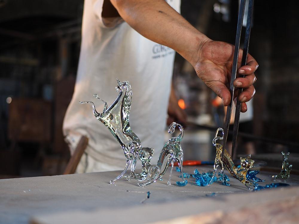 Mallorca-Glasblaeserei-La-Gordiola-Algaida-Glas-Tiere