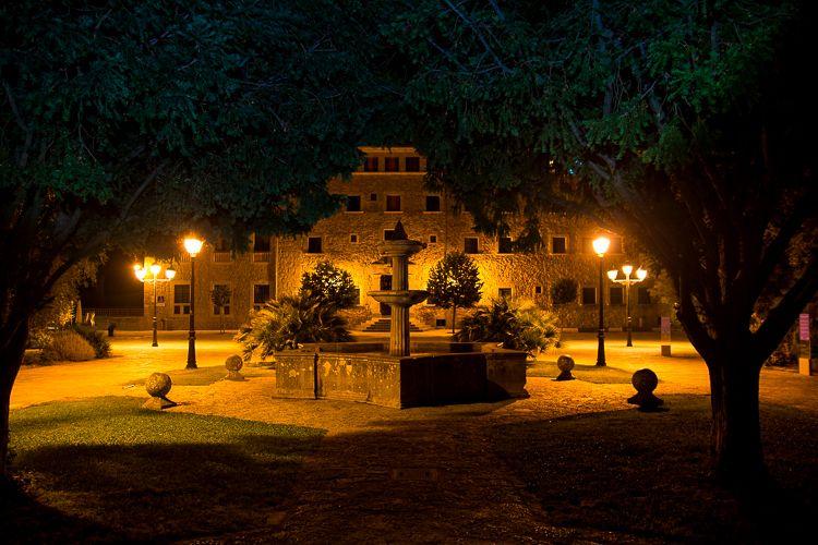 Mallorca-Kloster-Lluc-Nacht
