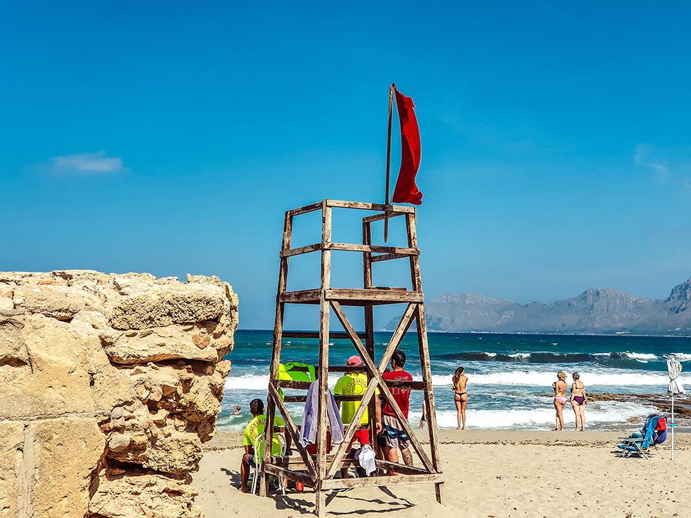 Mallorca-Son-Serra-de-Marina-Strand-Rettungsschwimmer