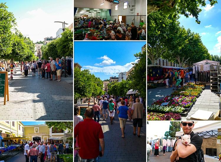 Mallorca-Wochenmarkt-Arta-Angebote-Schwein-Staende-Markthalle-Touristen