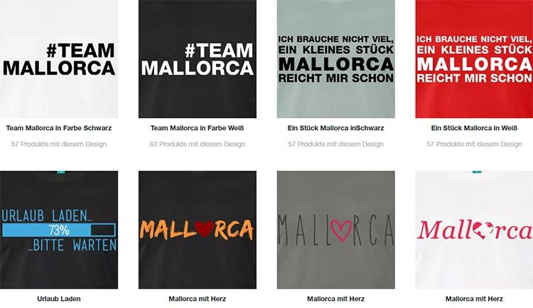 Mallorca-Shop-Auswahl-Shirts