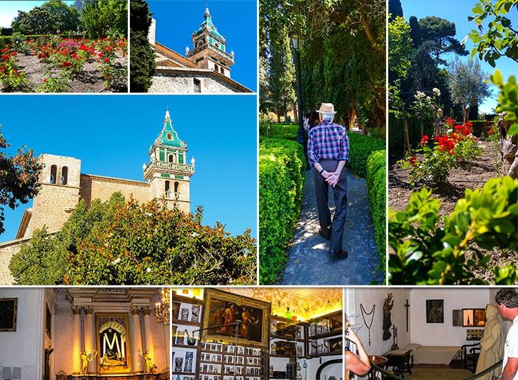 Mallorca-Valldemossa-Karthause-Garten-Touristen-Besuch