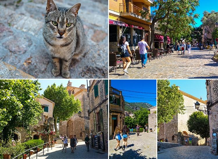 Mallorca-Valldemossa-Touristen-Besucher-Gassen-Urlaub-Kirche-Katze