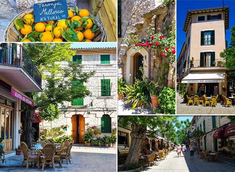 Mallorca-Valldemossa-Touristen-Besucher-Gassen-Urlaub-Orangen