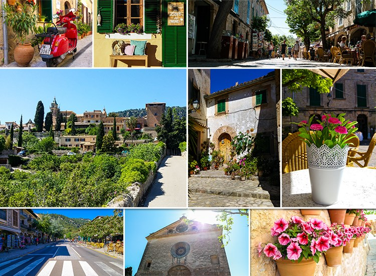 Mallorca-Valldemossa-Touristen-Besucher-Gassen-Urlaub