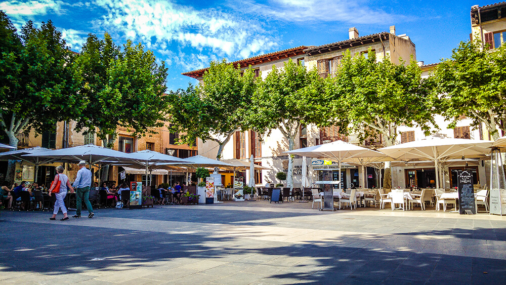 Mallorca-Pollenca-Placa-Major-Marktplatz-2