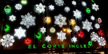 So sah die Weihnachtsbeleuchtung 2016 vom El Corte Inglés aus