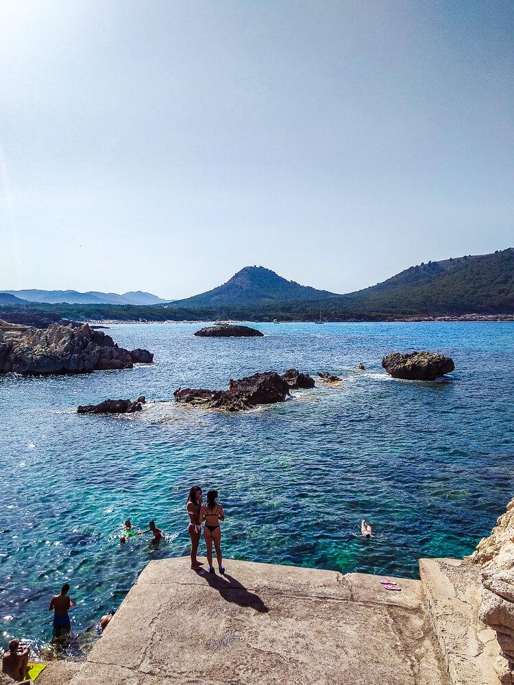 Mallorca-Cala-Ratjada-Cala-Lliteras-Strand-Bucht